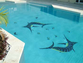 mosaic swimming pool tiles give your pool a special illusion something truly unique - Swimming Pool Tile Designs